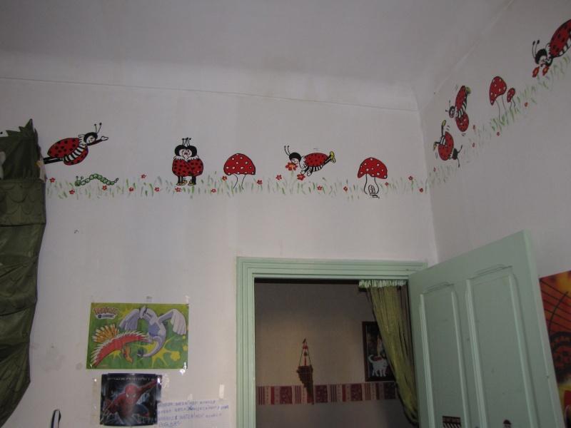 comment cacher des dessins peints sur les murs. Black Bedroom Furniture Sets. Home Design Ideas