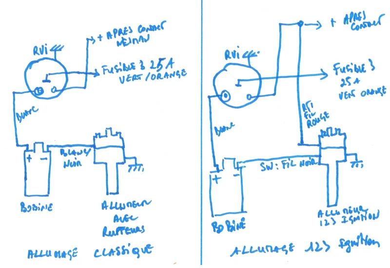 branchement allumeur csi et compte tours smiths rvi. Black Bedroom Furniture Sets. Home Design Ideas