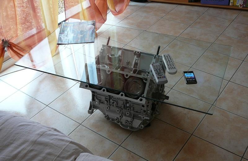Customiser Une Table Basse En Chene ~ Consulter Le Sujet  Realisation Table Basse Avec Un V6 !!!