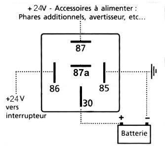 Schema branchement relais 24v