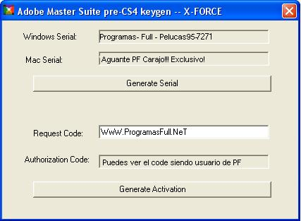 keymaker adobe master collection cs4 keygen