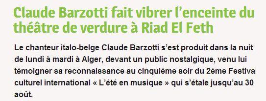 Claude Barzotti fait vibrer l'enceinte du Théâtre de verdure à Riad El Feth