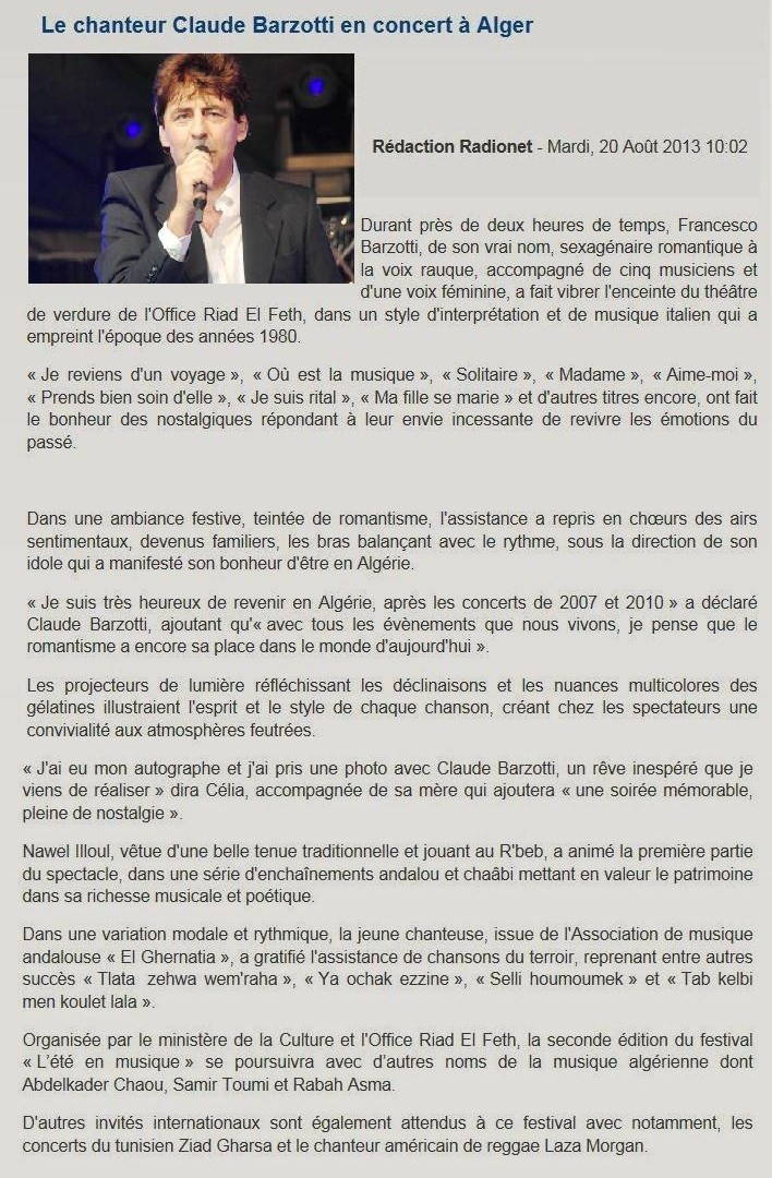 article Radio Algérienne
