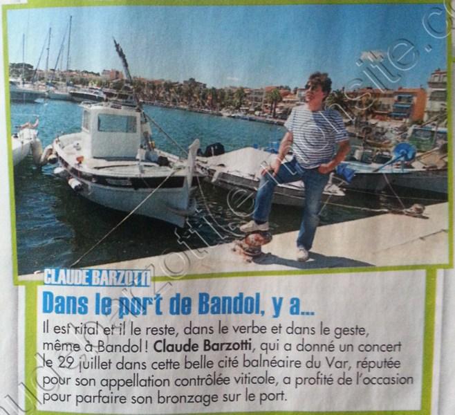 Claude barzotti sur le port de Bandol