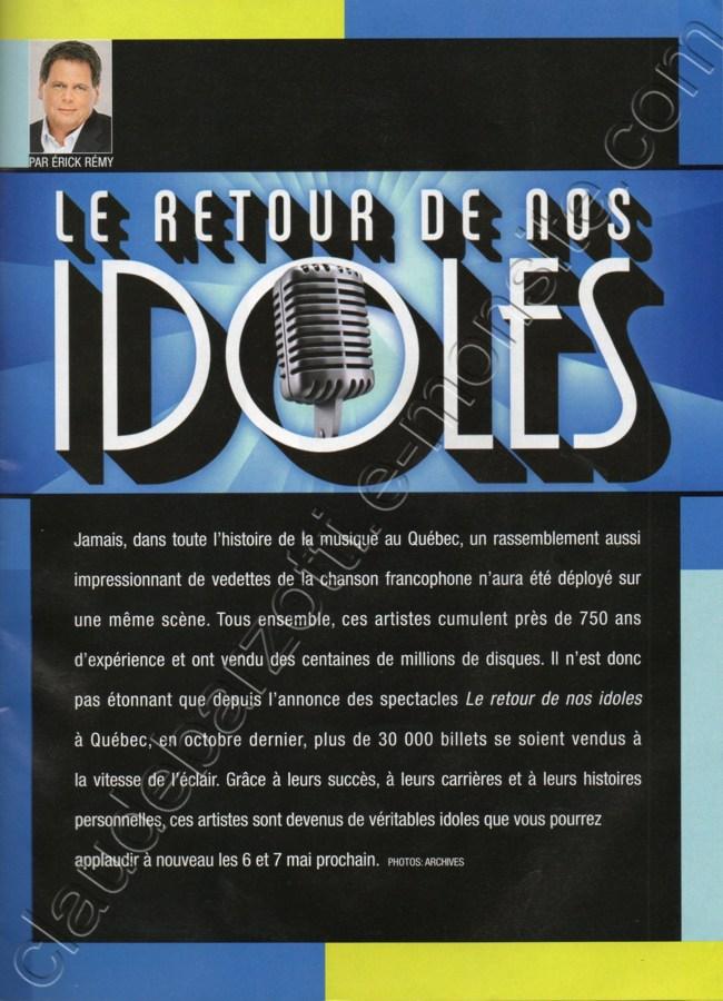 Blog de barzotti83 : Rikounet 83, Article de presse LE LUNDI avril 2011 Le retour de nos idoles
