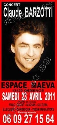 Blog de barzotti83 : Je ne sais plus comment te dire je ne trouve plus les mots ..Alors PARLE-MOI..(paroles de J.Kaplan), Concert en live à GEMENOS salon Maeva le 23 avril 2011