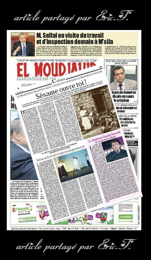 article de presse Algérie