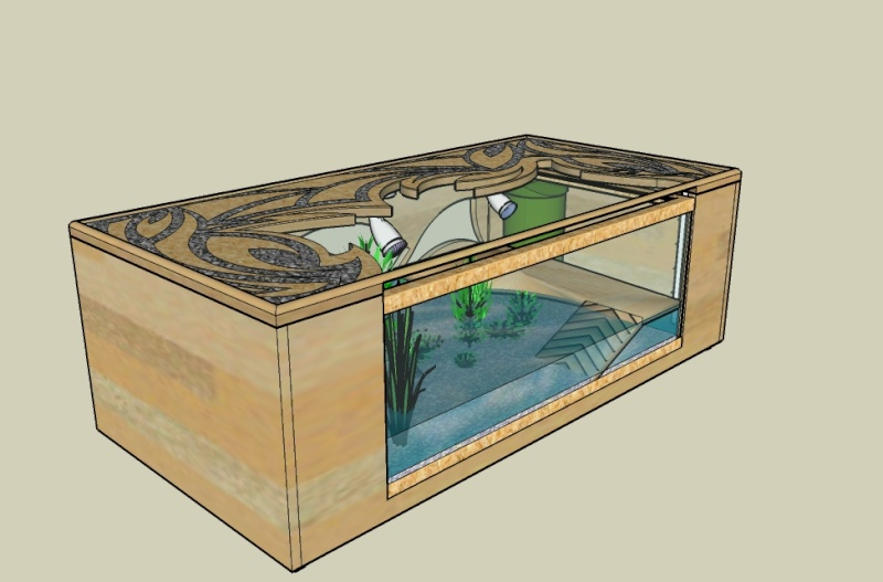 Table basse aquarium pas cher -> Aquarium Table Basse Pas Cher
