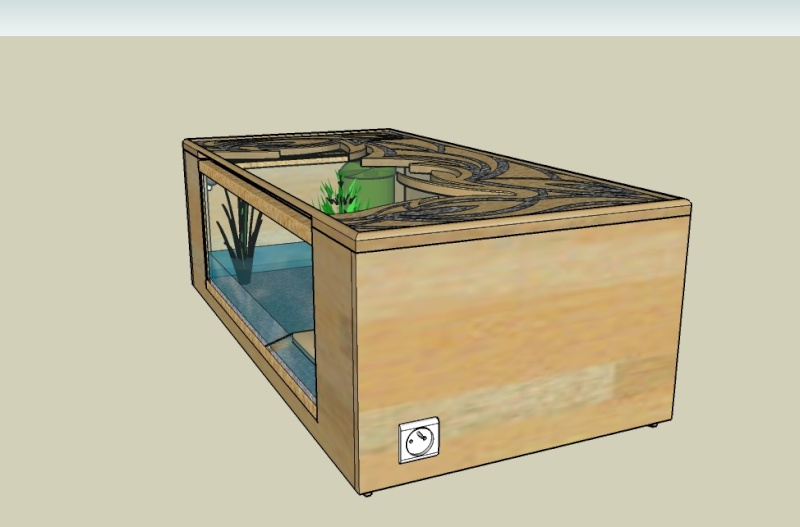 mon projet table basse aquarium