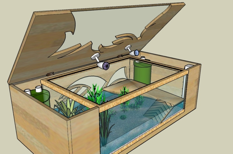 Table basse aquarium pour tortue - Fabriquer table basse aquarium ...