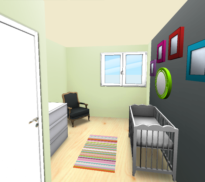 Logiciel 3d chambre b b id e inspirante for Pb choix peinture cuisine