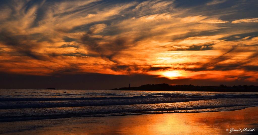 Aurore cr puscule lever coucher du soleil sur saint gilles croix de vie - Lever et coucher du soleil france ...