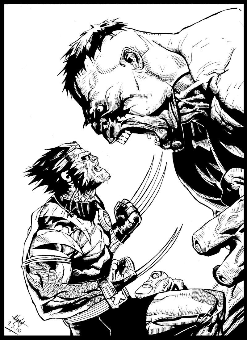 Personnages marvel iron man hulk - Dessin wolverine ...