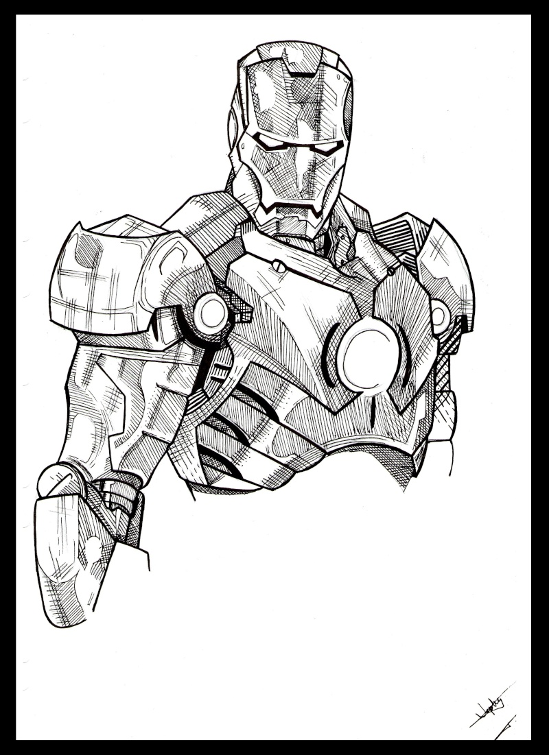 Personnages marvel iron man hulk - Dessin de iron man ...