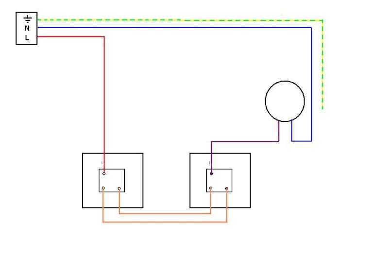 Branchement interrupteur simple et va et vient - Monter un va et vient en interrupteur simple ...