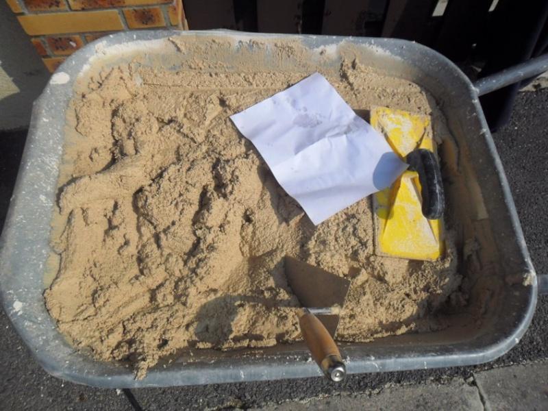 Mon muret - Dosage ciment blanc et sable pour joint ...