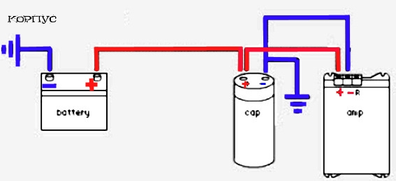 Схема конденсатор авто