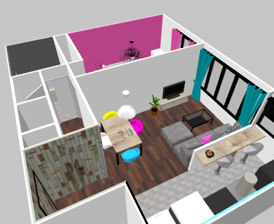 Yome16 avis pour relooking cuisine et salon for Sweet home 3d cuisine