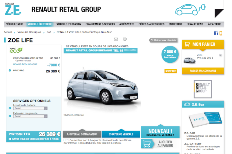 site renault retail group renault bordeaux zo vendue batterie incluse. Black Bedroom Furniture Sets. Home Design Ideas