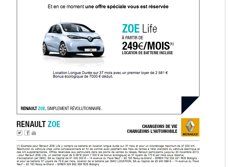 forum automobile propre cro pour la zoe renault zoe page 5. Black Bedroom Furniture Sets. Home Design Ideas